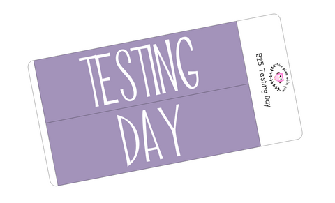 B25 || Basic Testing Day Full Day Stickers