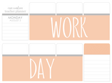 B30 || Basic Work Day Full Day Stickers