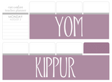 B31 || Basic Yom Kippur Full Day Stickers