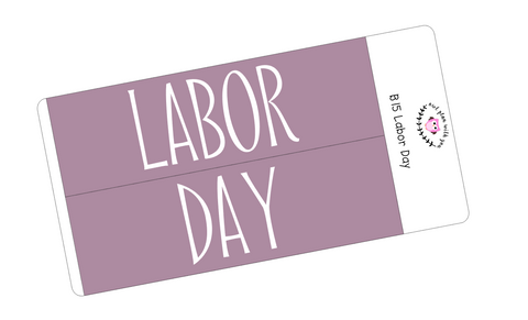 B15 || Basic Labor Day Full Day Stickers