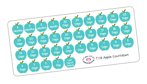 T114 || Apple End of Year Countdown Stickers