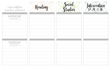 P01 || Petals Weekly Teacher Planner Header Stickers