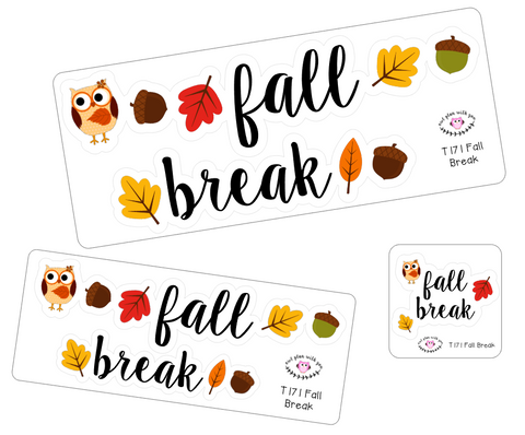 T171 || Fall Break Week Cover Stickers