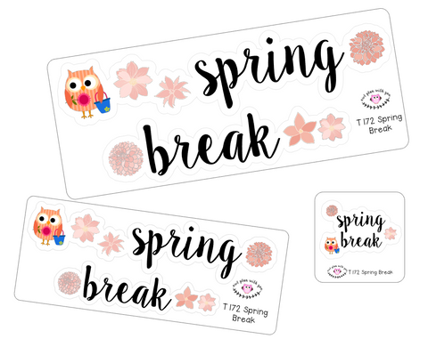 T172 || Spring Break Week Cover Stickers