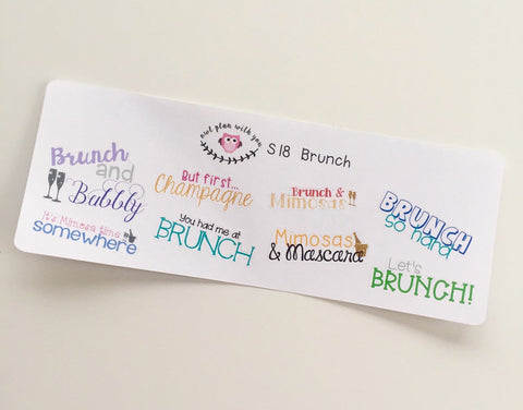 S18 || 8 Brunch Quote Stickers