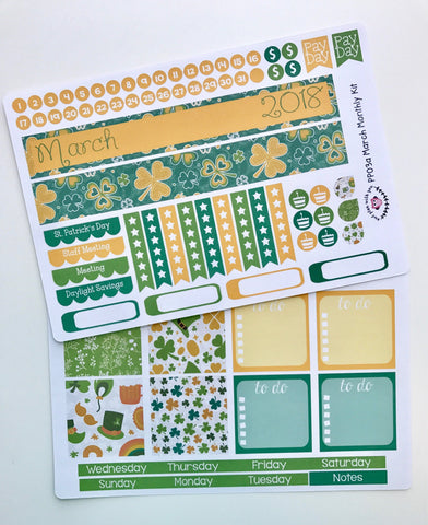 PP03 || March St Patty Plum Paper Teacher Kit