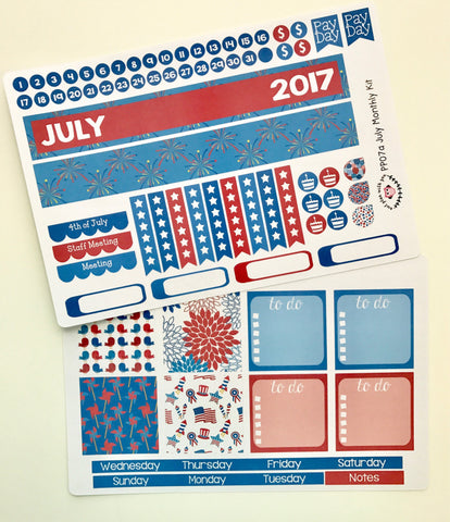 PP07 || July Fourth Plum Paper Planner Kit