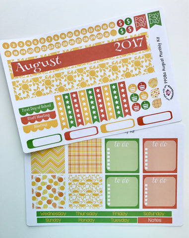PP08 || August Sunshine Plum Paper Teacher Kit