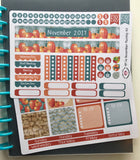 HP11 || November Pumpkin Happy Planner Teacher Kit