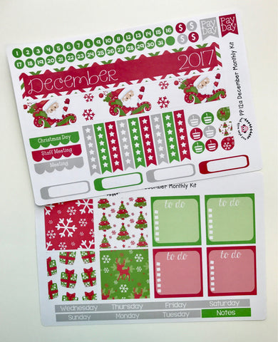 PP12 || December Christmas Plum Paper Teacher Kit