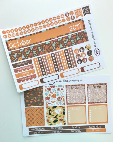 PP10 || October Halloween Plum Paper Teacher Kit