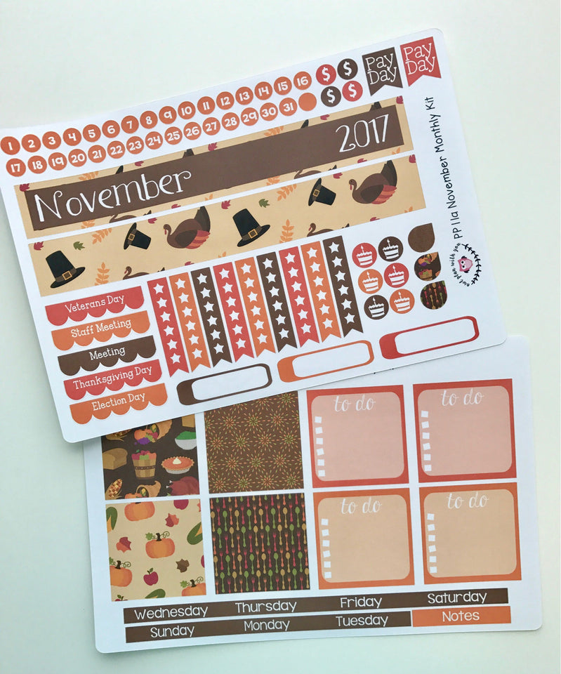 Monthly Kits for Large Plum Paper Planners