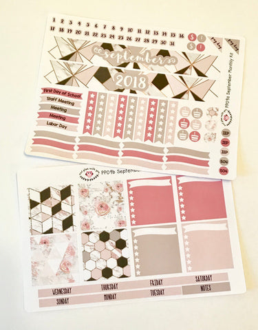 PP09 || September Marble Plum Paper Teacher Kit