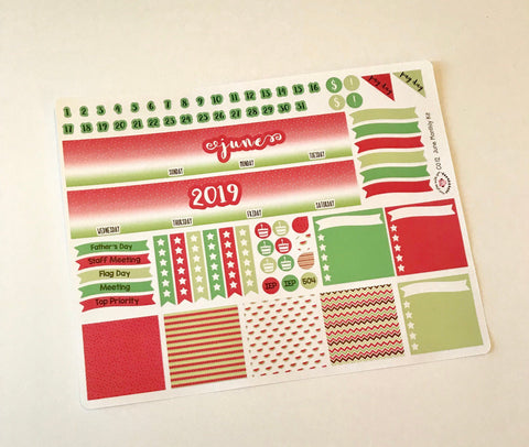 CP12 || June Watermelon Planner Classic Teacher Kit