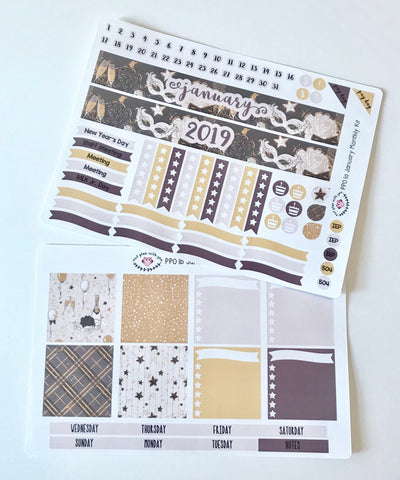 PP01 || January Celebration Plum Paper Teacher Kit