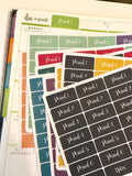 T161 || 28 Custom Color Weekly Teacher Planner Header Stickers