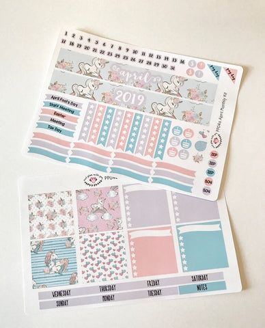 PP04 || April Unicorn Plum Paper Teacher Kit