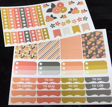 V04 || Mod Flower Weekly Planner Kit || For Vertical Erin Condren Life Planners