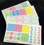 H02 || Bright Pastel Weekly Planner Kit || For Horizontal Erin Condren Life Planners