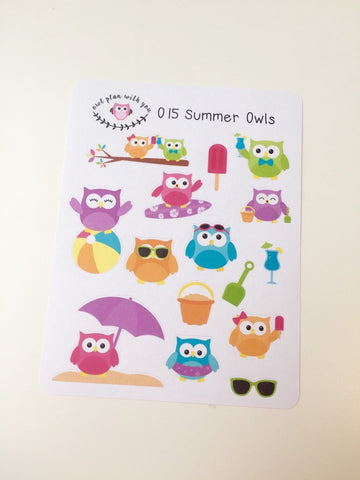 O15 || 15 Summer Owls Stickers