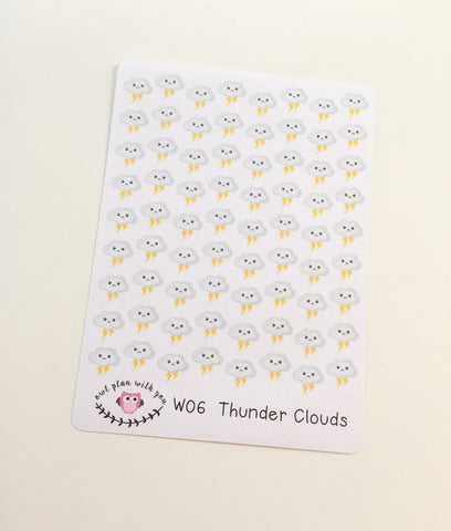 W06 || 72 Thunderstorm Weather Tracking Stickers