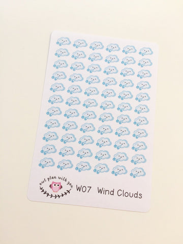 W07 || 66 Wind Weather Tracking Stickers