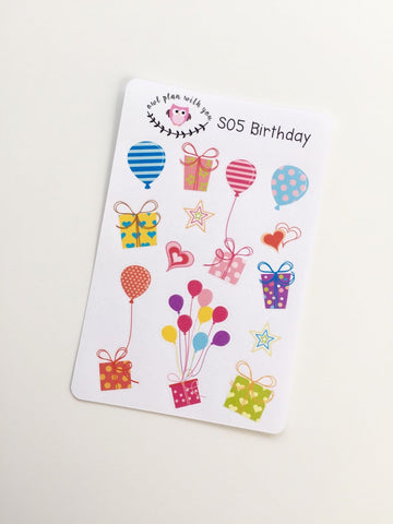 S05 || 13 Birthday Stickers