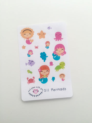 S11 || 18 Mermaid Stickers