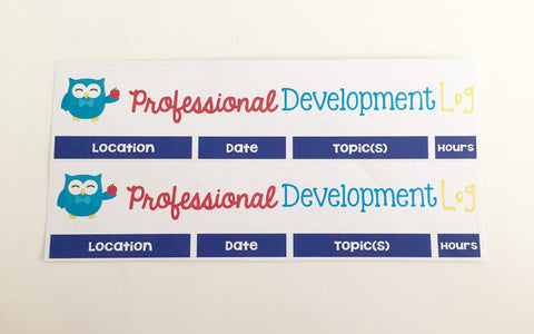 T53 || Owl Professional Development Log Header Stickers