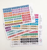 T45 || 88 Teacher Planner Glitter Sticker Set
