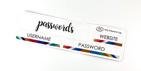 R32 || Retro Passwords Log Stickers