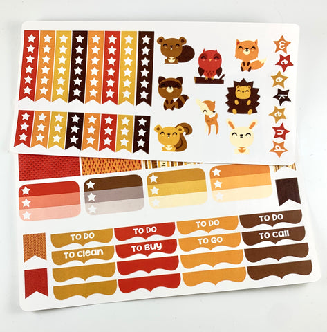 V12 || Woodland Creatures Planner Kit || For Vertical Erin Condren Life Planners