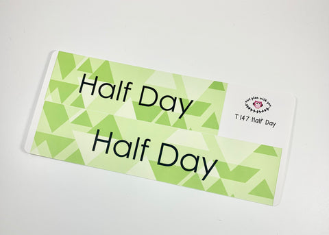 T147 || Geometric Half Day Full Day Stickers