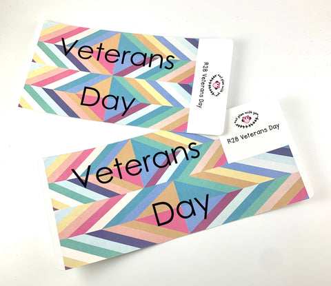 R28 || Retro Veterans Day Full Day Stickers
