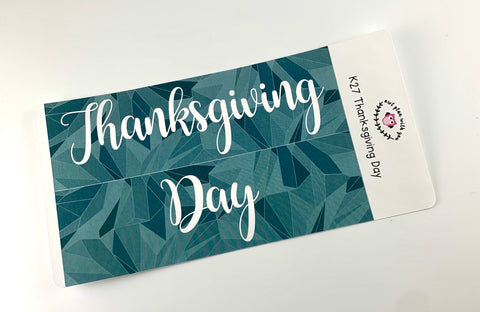 K27 || Kaleidoscope Thanksgiving Day Full Day Stickers
