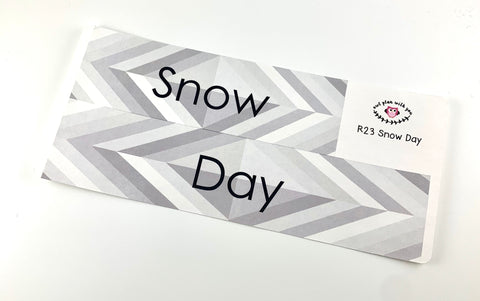 R23 || Retro Snow Day Full Day Stickers