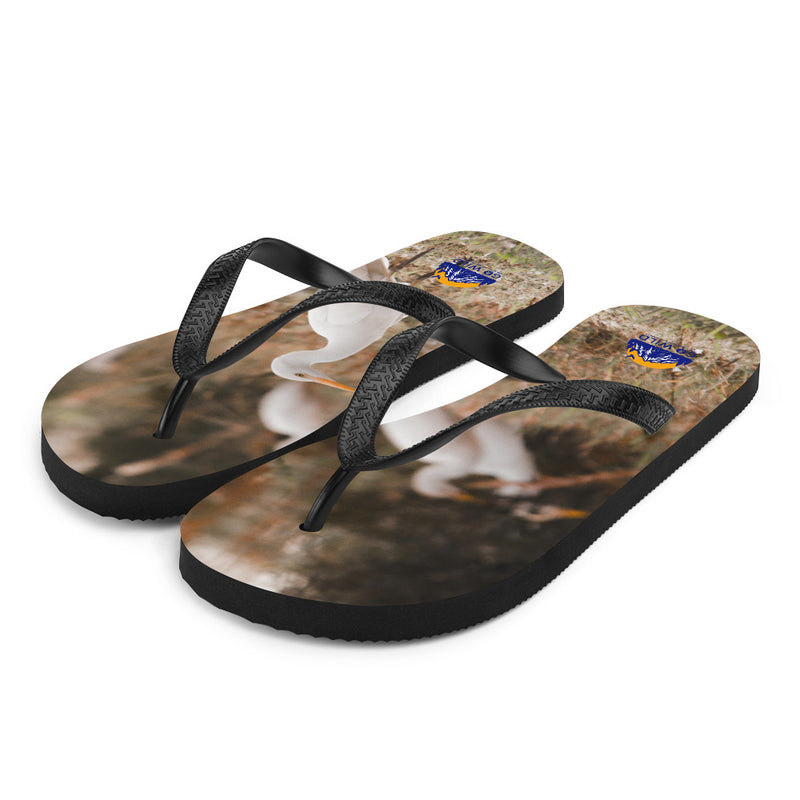 Winter Egret Flip-Flops - Go Wild Photography [description]  [price]