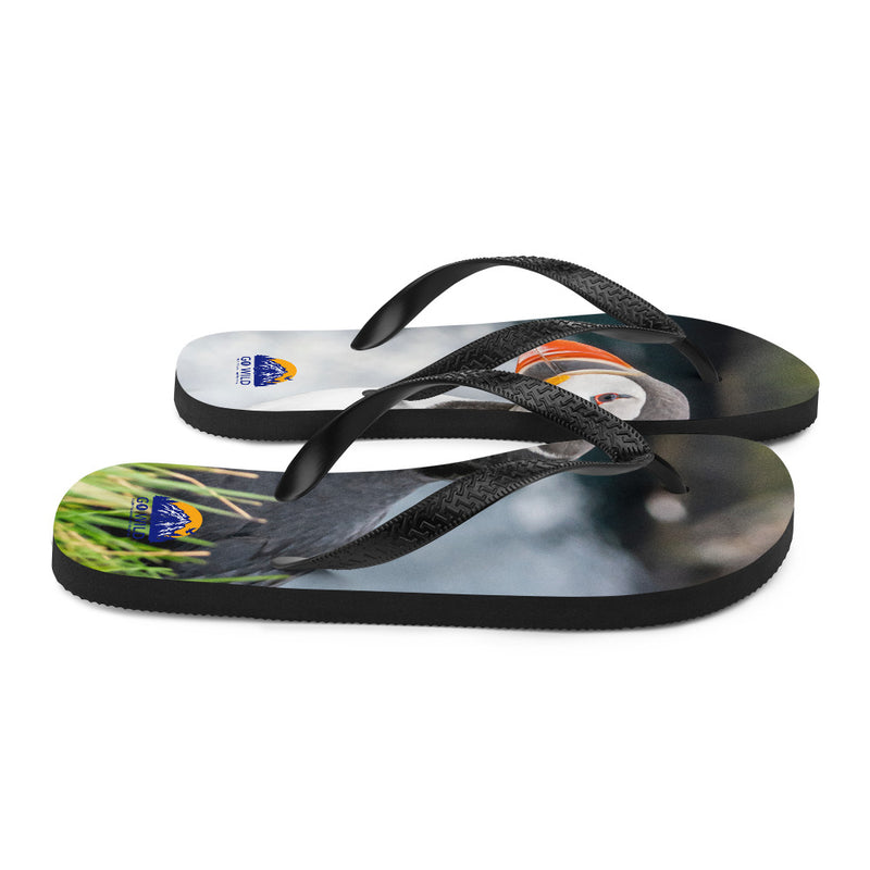 Puffin Cliffs Flip-Flops - Go Wild Photography [description]  [price]