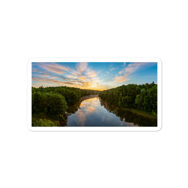 Michigan Sunrise Bubble-free stickers - Go Wild Photography [description]  [price]