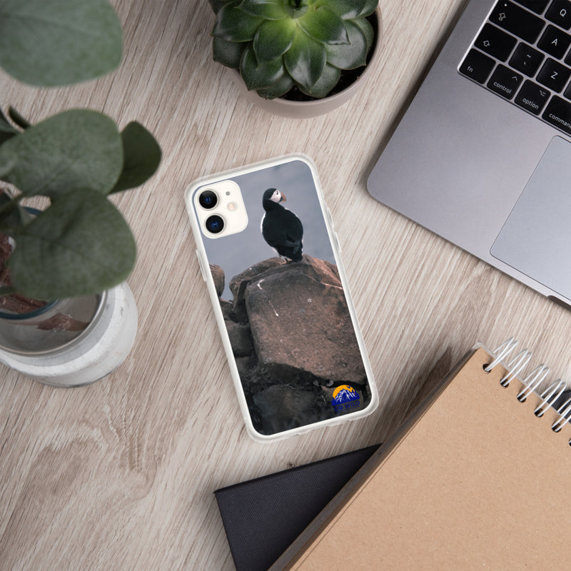 Lone Puffin iPhone Case - Go Wild Photography [description]  [price]