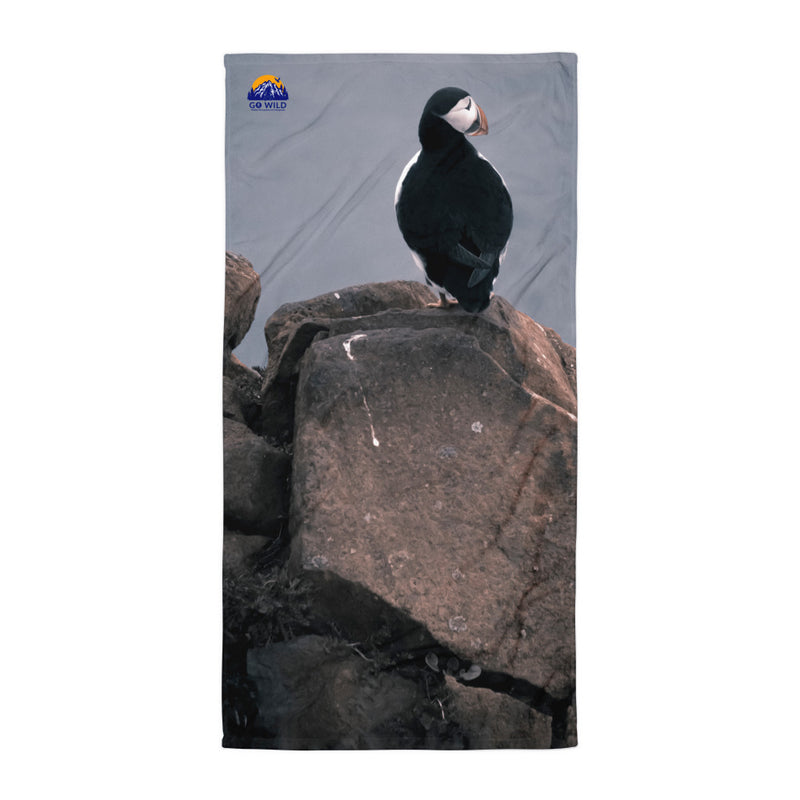 Lone Puffin Towel - Go Wild Photography [description]  [price]