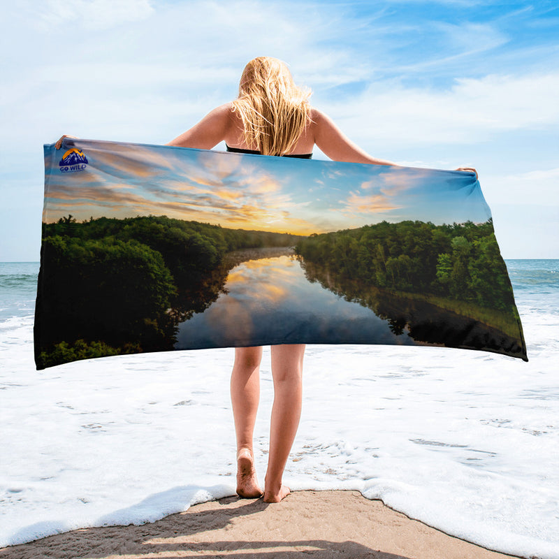 Michigan Sunrise Towel - Go Wild Photography [description]  [price]