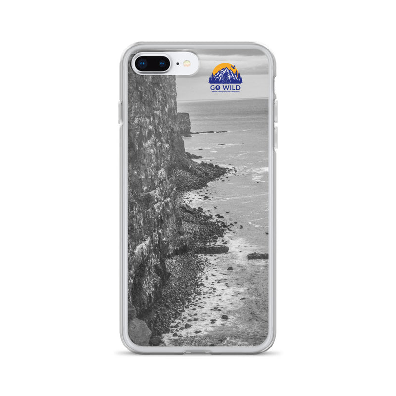 Bird Cliffs Black and White iPhone Case - Go Wild Photography [description]  [price]