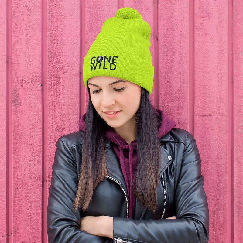 Gone Wild Pom-Pom Beanie - Go Wild Photography [description]  [price]