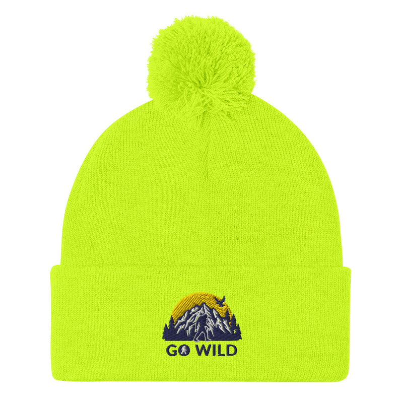Go Wild Logo Pom-Pom Beanie - Go Wild Photography [description]  [price]