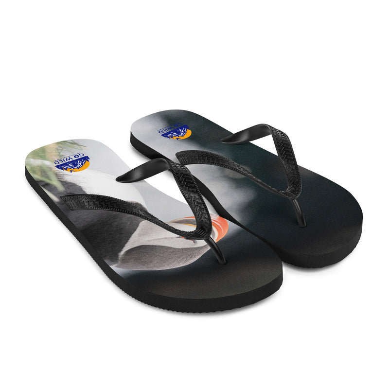 Stoic Puffins Flip-Flops - Go Wild Photography [description]  [price]