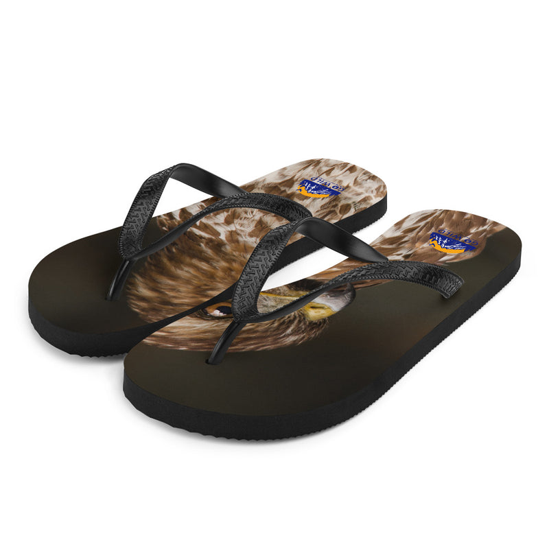Red Shouldered Hawk Flip-Flops - Go Wild Photography [description]  [price]