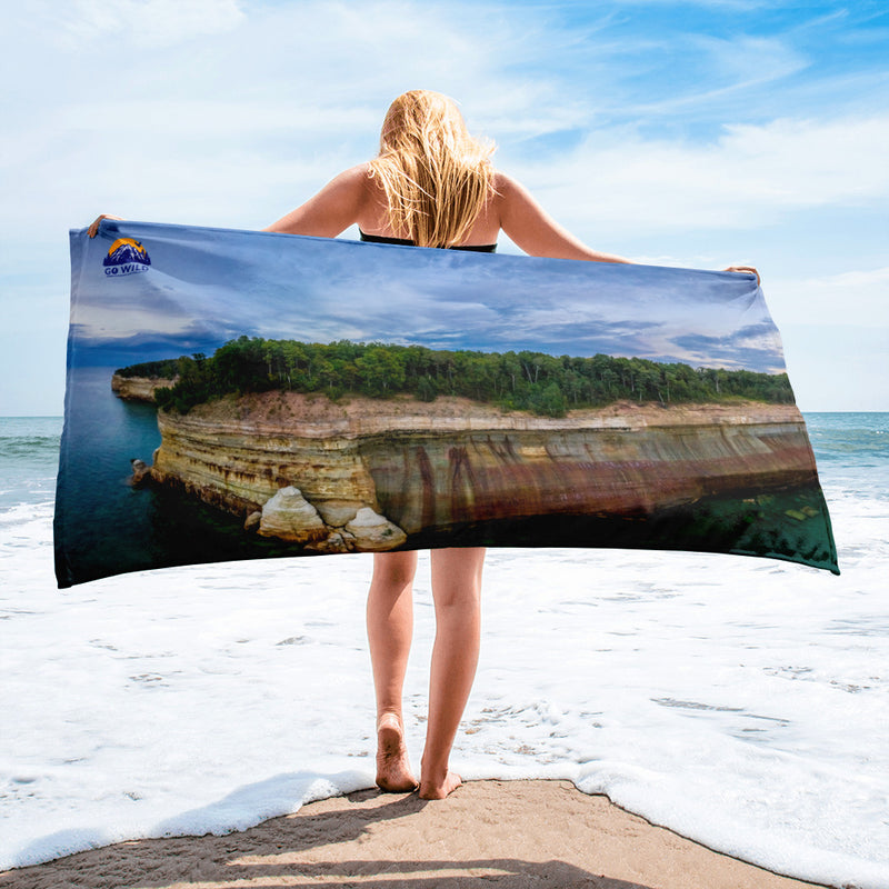 Pictured Rocks National Shoreline Towel - Go Wild Photography [description]  [price]