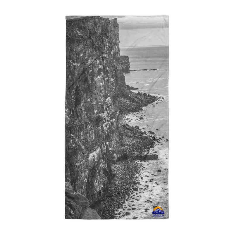 Bird Cliffs Black and White Towel - Go Wild Photography [description]  [price]