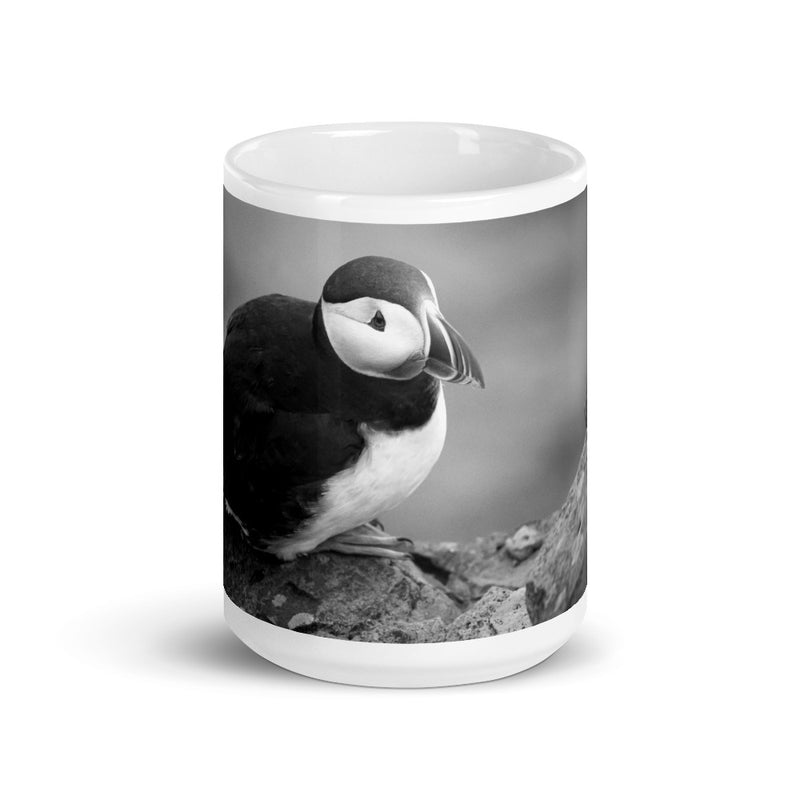 Black and White Arctic Puffin Coffee Mug - Go Wild Photography [description]  [price]